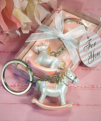 Pink Rocking Horse Key Holder
